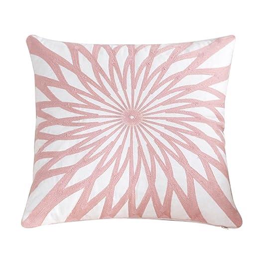 treestar 1pcs arte rosa bordado corazón de flores cuadrado funda de almohada de protección de almohada Funda de almohada de 45 x 45 cm
