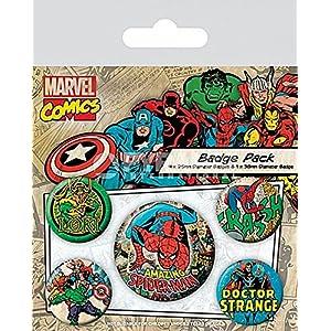 10/x 12.5/x 1.3/cm Multicolore Pyramid International Marvel Retro Spider-Man Badge