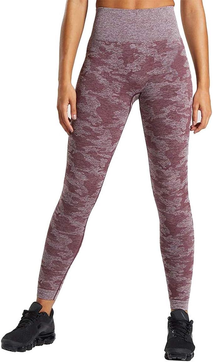 Jinsen Camo Yoga Pants for Women High Waist Seamless Leggings Fitness Tummy Control Workout Gym Pants js0029