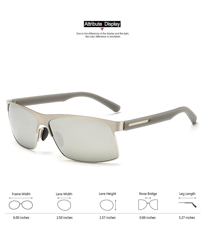 82f6318dd00d2 Marco de metal polarizadas de protección UV400 tac lentes Gafas de sol para  conducir  Amazon.es  Ropa y accesorios