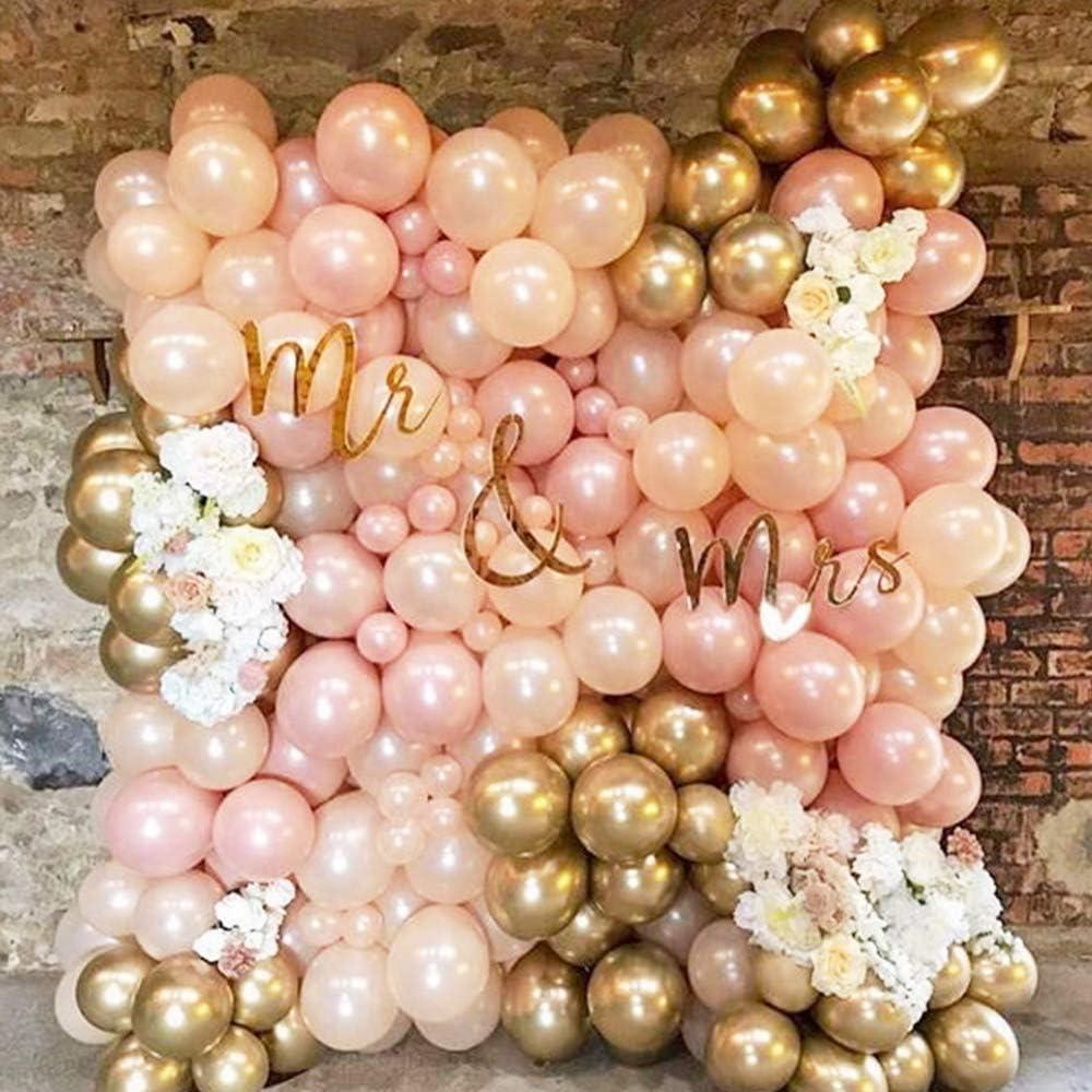 Kit Ballon Guirlande Anniversaire Feuilles de Palmier MMTX Ballon Mariage Rosegold evjf Anniversaire Decoration balloons Ballons Latex pour decoration bapteme fille F/ête D/écoration B