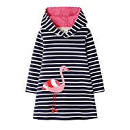 HILEELANG Little Girl Trends Spring Summer Casual Cotton Applique Tunic Dress Shirt