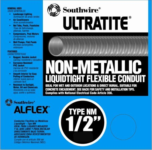 Amazon.com: Southwire 55094222 Liqua Flex 1/2-Inch by 50-Feet Non-Metallic Liquidtight Flexible Conduit by Southwire: Home & Kitchen