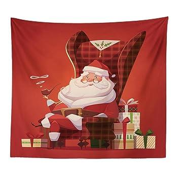 Diseño de Navidad tapiz, lotus. flor feliz Navidad Santa Claus colgante de pared manta