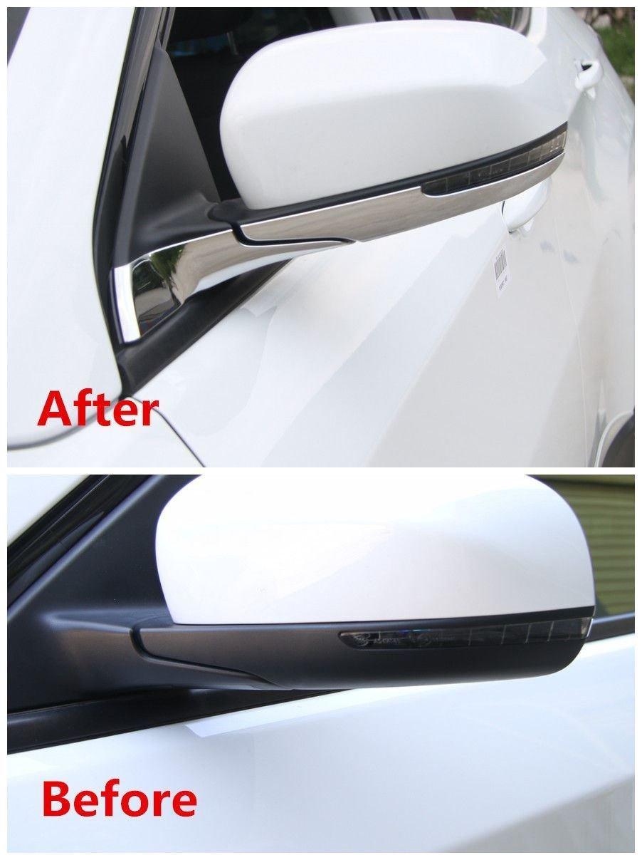 Auto Cromato Sportello Laterale Specchietto Retrovisore Frame Cover Trim Auto Di Parti ABS Argento Lucido 4Pcs Hemeray