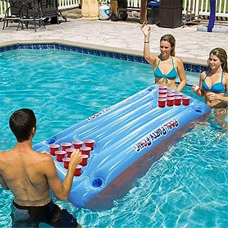 FinukGo Inflable Cerveza Pong Flotador Mesa Piscina Balsa ...