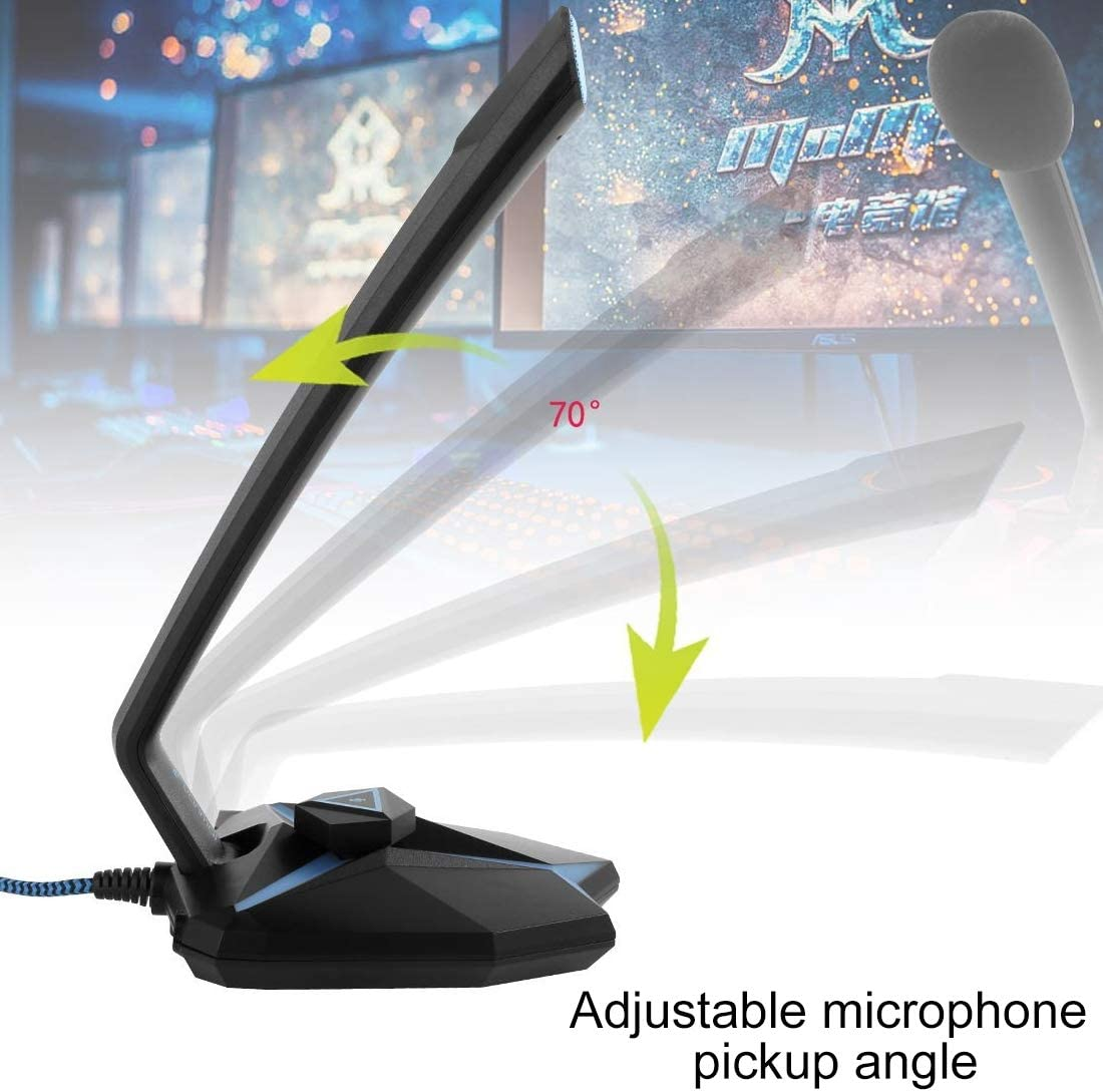 Color : Green Green DUDETAO G33 Capacitive Gaming Microphone with LED Indicator