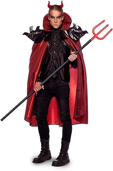 Bambini Mantello Diavolo Rosso Halloween