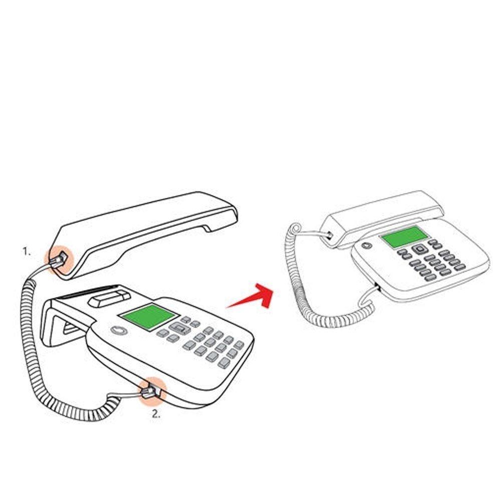 Teléfono fijo Vodafone - Funciona con tarjeta SIM, sin ...