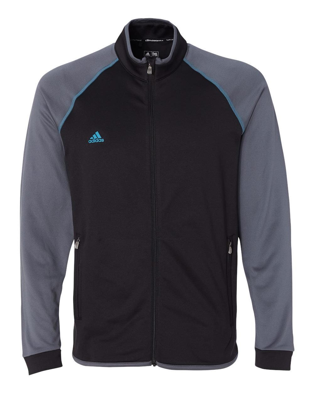 adidas Men's Clima Warm Full Zip Jacket, Black/Lead, Medium