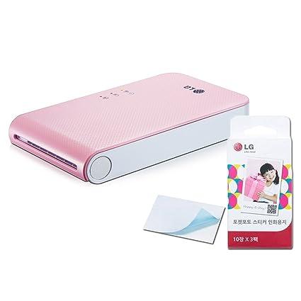 Juego] nuevo LG Pocket Photo pd241 pd241t Impresora [Rosa] (Modelo ...
