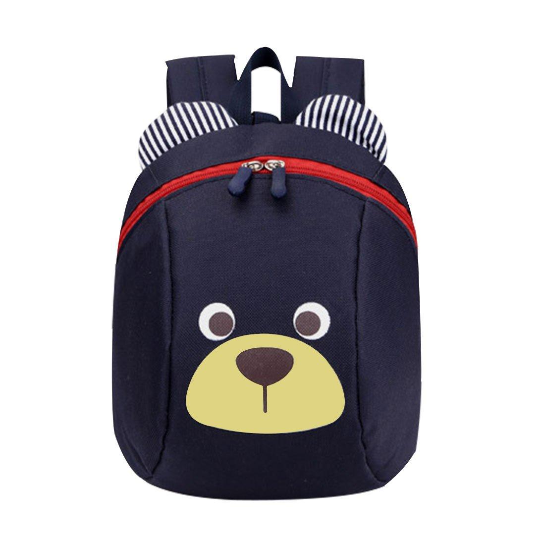 GWELL S/ü/ß B/är Mini Rucksack Kinder Babyrucksack Kindergartenrucksack Backpack Schultasche Kleinkind M/ädchen Jungen dunkelblau