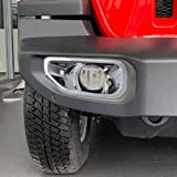 NINTE Front Fog Light Cover for Jeep Wrangler JL