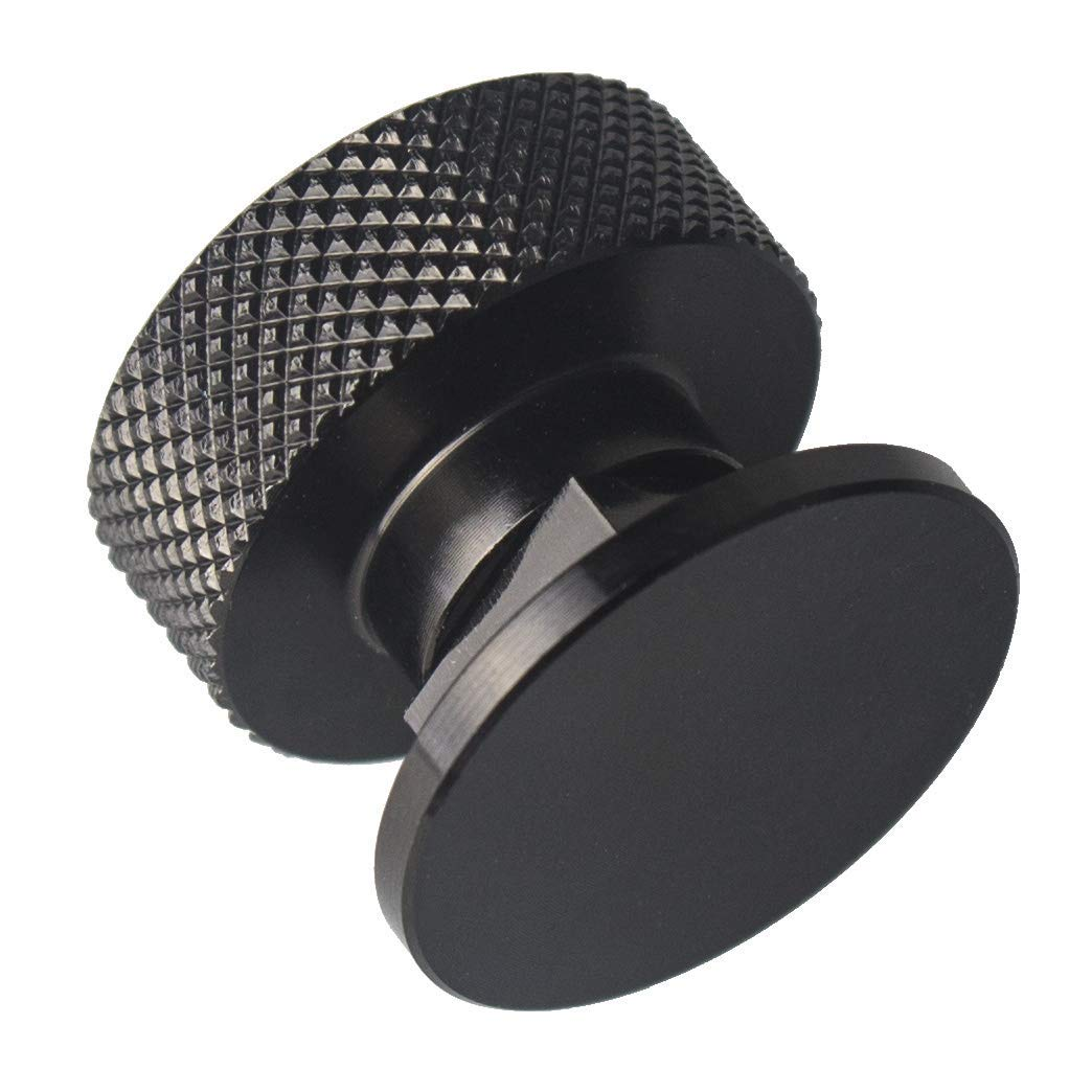 3mirrors Welding Hood (Pipeliner) Helmet Fasteners Aluminum - 1 Pair (Black Anodized Knurled) by 3mirrors (Image #5)