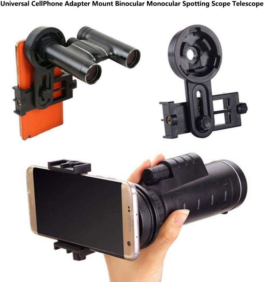 BAQI Universal Cell Phone Adapter Mount,Binoculars//Monocular Telescope//Microscope//Spotting Scope Attach to Cell Phone Mount Bracket Connecter