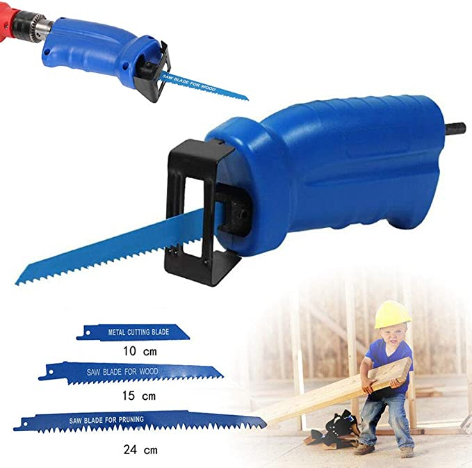 Portable Electric Cordless Drill Reciprocating Saw Cutter Metal Cutting Recip