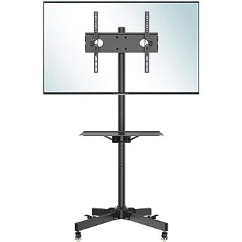 BONTEC Soporte TV Ruedas Soporte TV Suelo para 23-55 Pulgadas Plasma/LCD/LED Soportes TV de Pie para Pantalla Plana Móvil Carro de Exhibición Trole, Máx. VESA 400x400 mm: Amazon.es: Electrónica