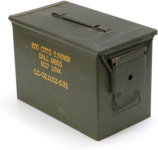 Originale usadas munición Caja Tamaño 3 del Ejército Para 800 Cartuchos metal caja Mun de caja depósito metal: Amazon.es: Deportes y aire libre