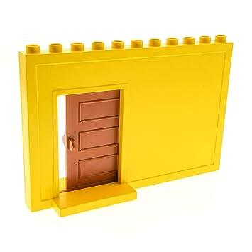 Bausteine Gebraucht 1 X Lego Duplo Wand Element Gelb 1 X 11 X 6 Mit  Schiebetür