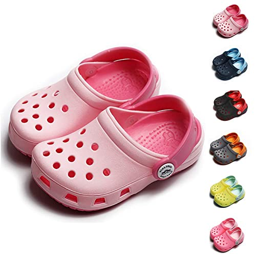472240af21d47 Image Unavailable. Image not available for. Color: BiBeGoi Kids Boys Girls  Comfort Clogs Cute Pool Water Garden Beach Shoes Lightweight Summer Slippers  (