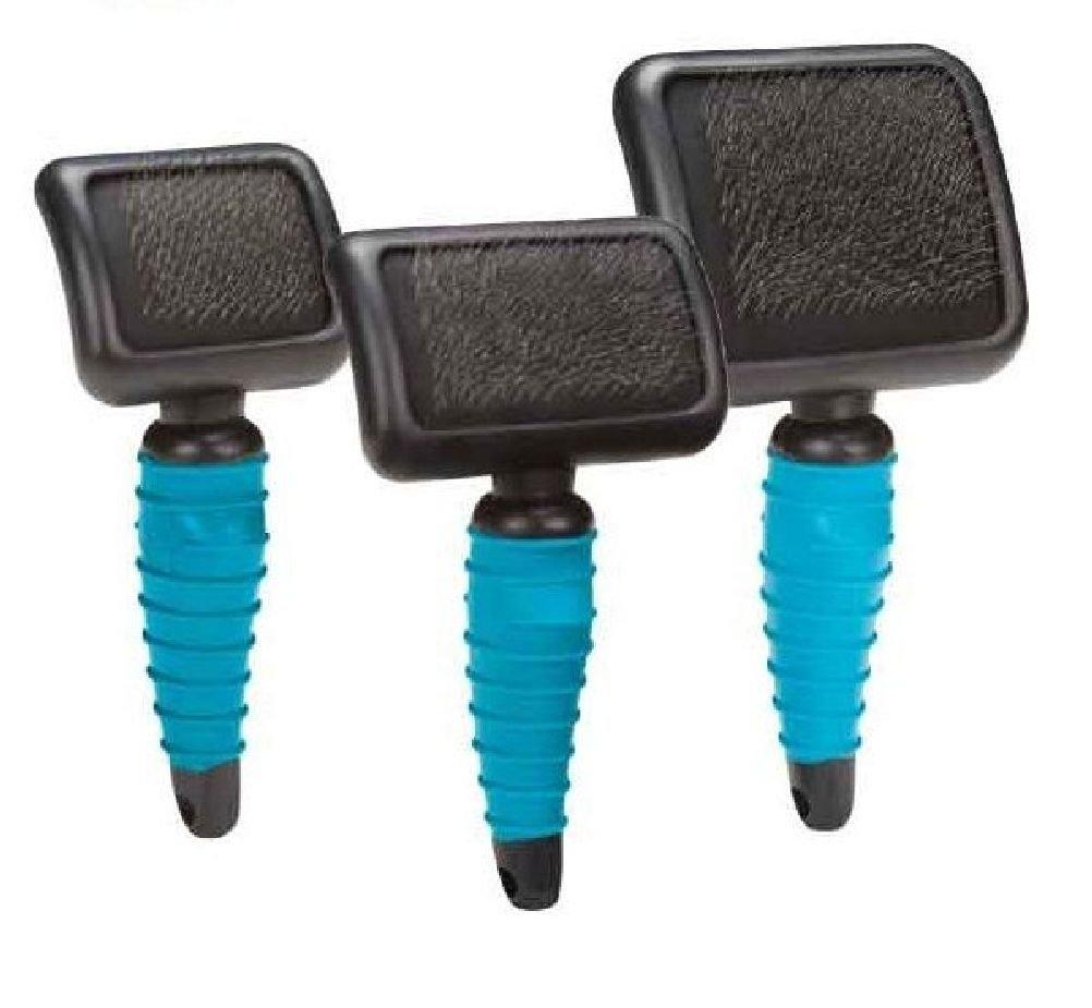 Soft Slicker Brushes Ergonomic Blue Professional Dog Grooming Tools Choose Size