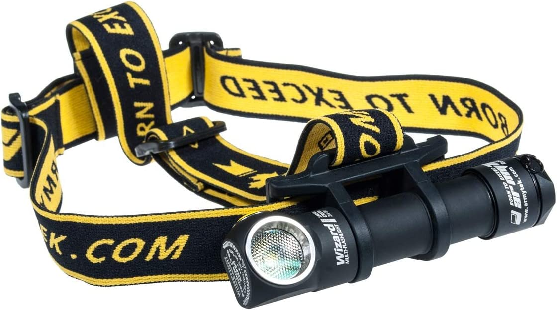 /Lampe Frontale LED avec Batterie de ION au Lithium et Fonction de Charge USB Armytek Wizard Pro USB xhp50/