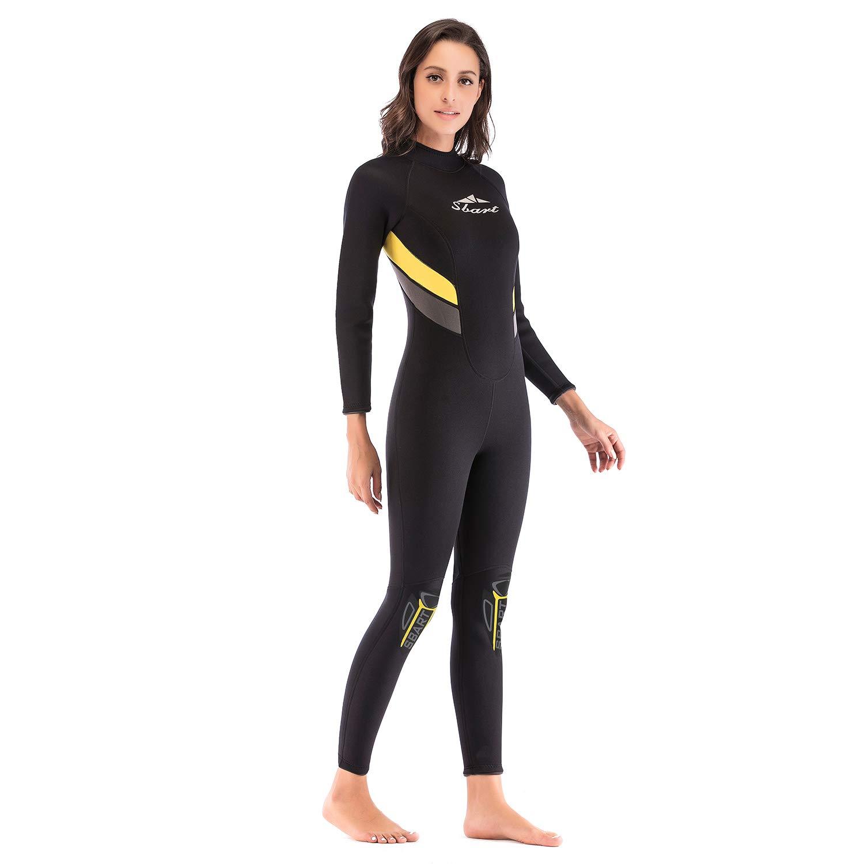 カップルモデル3 MMシャム肥厚ダイビングスーツ長袖暖かいサーフィン防水母シュノーケリングスーツ,Female,XL Female X-Large