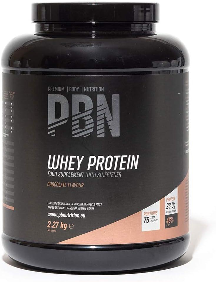 PBN - Proteína de suero de leche en polvo, 2.27 kg (sabor chocolate)