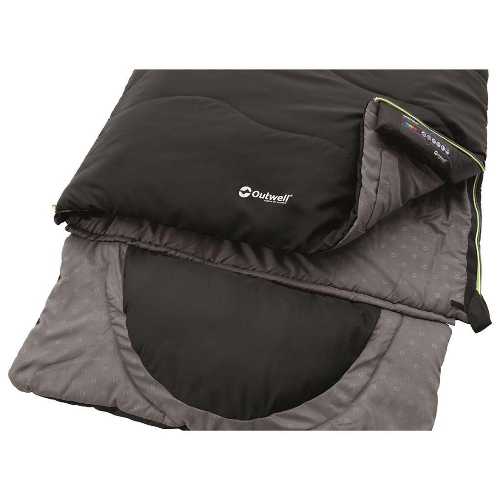 Outwell Contour Saco de Dormir, Color Midnight Black, tamaño 225 x 90 cm, 1.6: Amazon.es: Deportes y aire libre