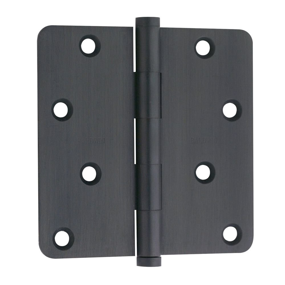 Baldwin 1440102I 0.25 Radius Mortise Hinge, Oil Rubbed Bronze