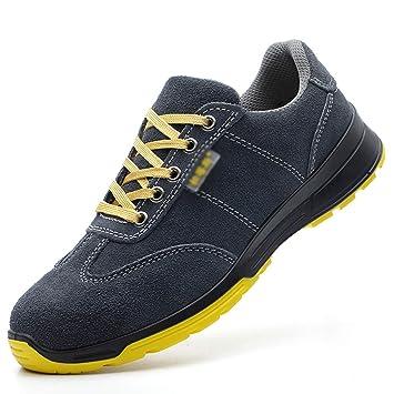 Zapatos de seguridad Puntera de acero para hombres zapatos de seguridad livianos, resistentes al desgaste