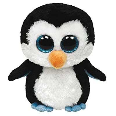 "Ty Beanie Boos Waddles Penguin 16"" Plush, Large: Toys & Games"