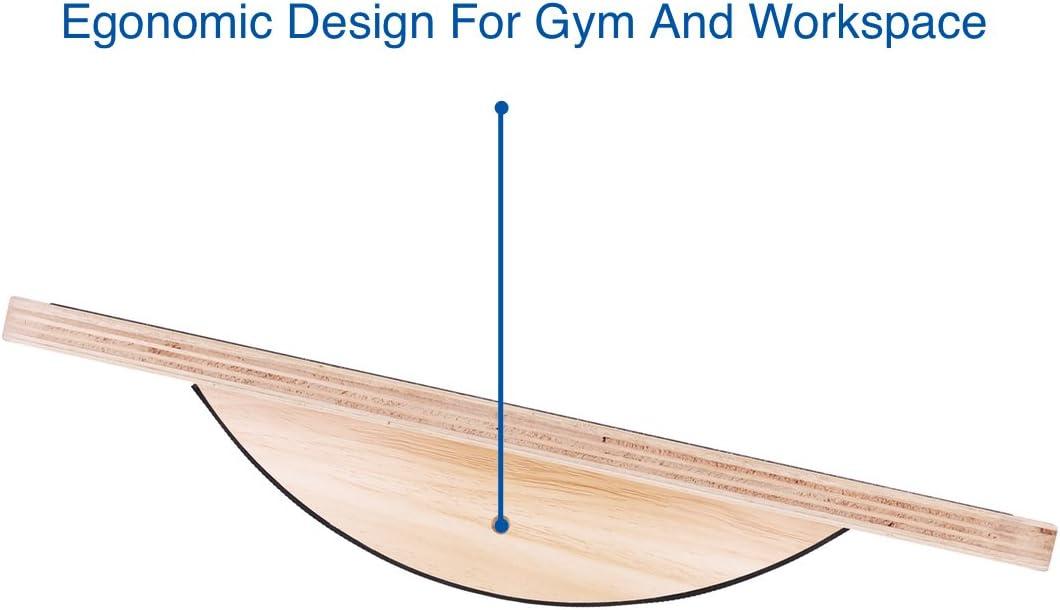 StrongTek Professional Wooden Balance Board, Rocker Board, 17.5 Inch Wood Standing Desk Accessory, Balancing Board for Under Desk, Anti Slip Roller, Core Strength, Stability, Office Wobble Boards … : Sports & Outdoors