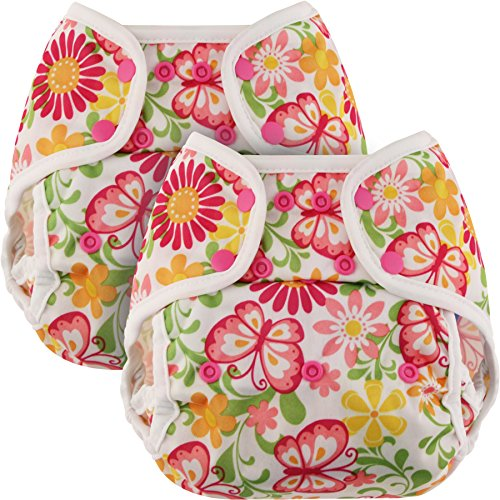Blueberry One Size Coveralls Cloth Diaper Cover, Bundle of 2, Made in USA (Bugs)