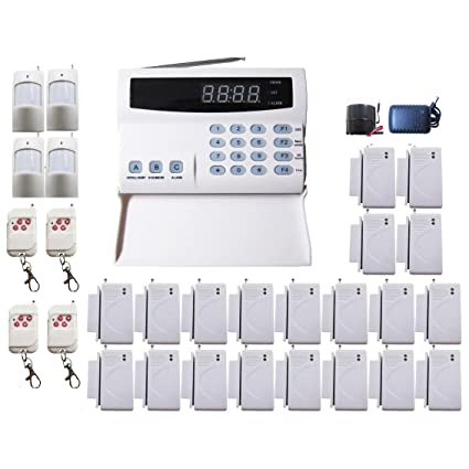 iMeshbean Wireless Home Security Alarm System SA06 99 Zones Kit with Auto Dial + 20 PCS Door/Window Sensor + Outdoor Siren USA