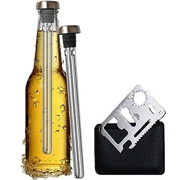 Compra Original Regalo 2 Enfriadores de Botella Cerveza y Abridor ...