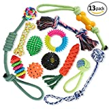 Dog Rope Toys Set of 13 -Puppy Chew Toys- Durable Dog Chew Toys - Dog Toys for Small and Medium Breeds- Cotton Dog Rope Toy for Training Tug-of-War Playing, Small Dog Toys, Dog Toys for Small Dogs