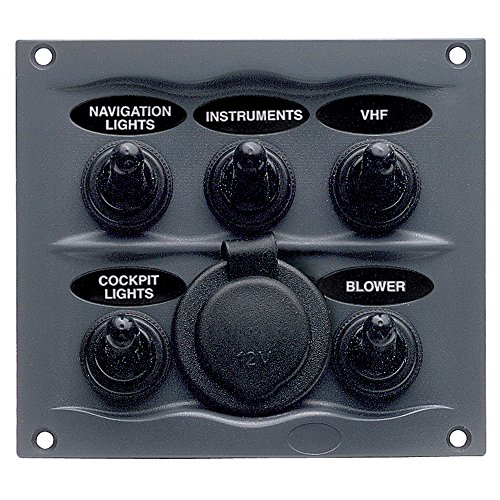 - BEP Black Waterproof Panel with 5 Switches