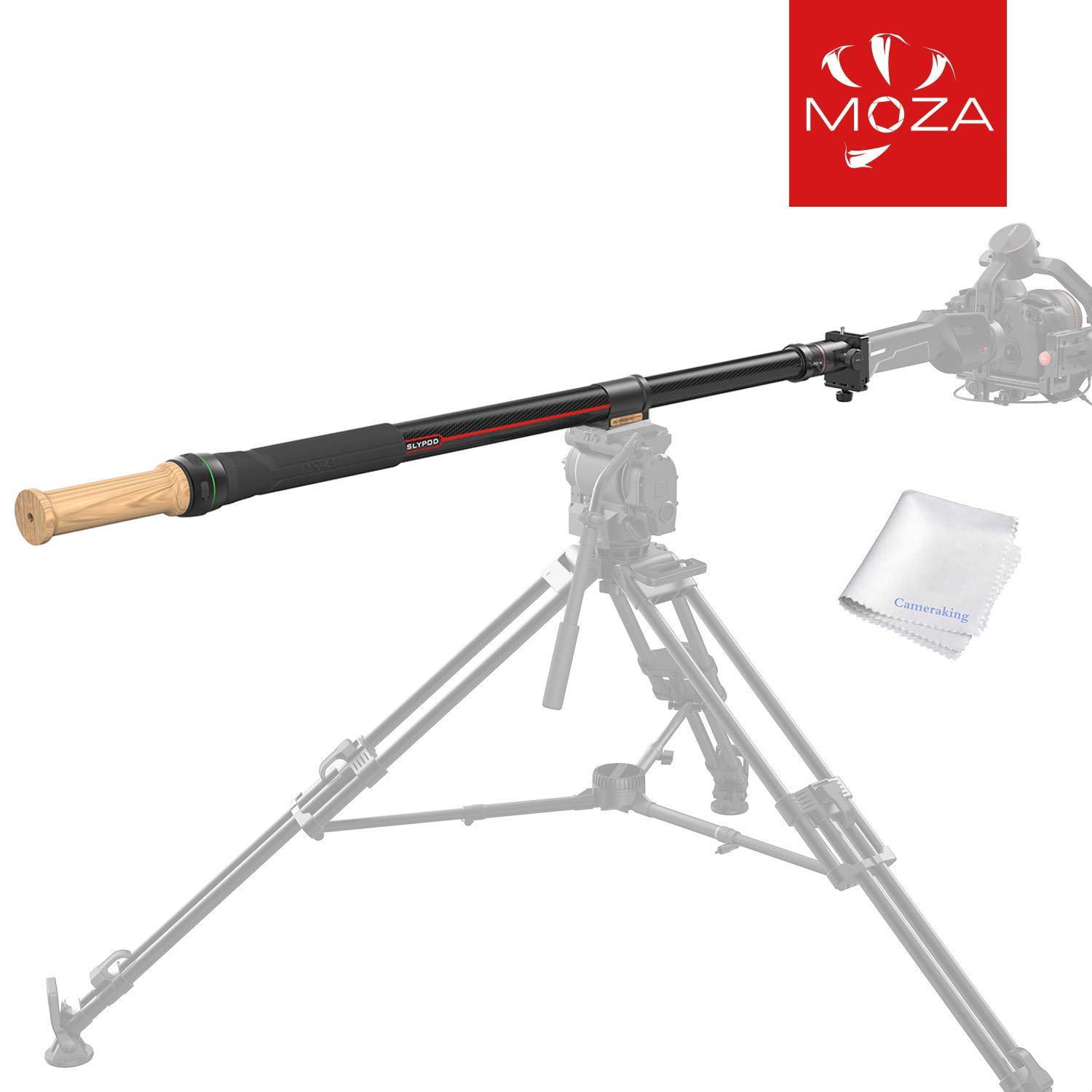MOZA Slypod 2-in-1 Monopod Slider Motorised Accurate Position Speed Control Advanced Shooting Modes Precision Power Easy Assemble Quality Craftsmanship High Capacity for More Cinematic Possibilities by MOZA