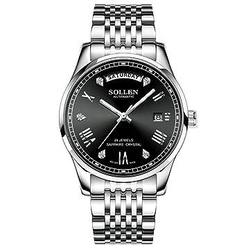 WERTY&K Relojes para Hombre Reloj Mecánico Automático De Lujo De La Mejor Marca: Hombres,