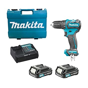 Makita Schlagbohrmaschine 10 8 V 2 Ah 2 Li Ion O 21 Amazon De Baumarkt