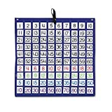 Carson-Dellosa 158157 Hundreds Pocket Chart with 100 Clear Pockets, Colored Number Cards, 26 x 26