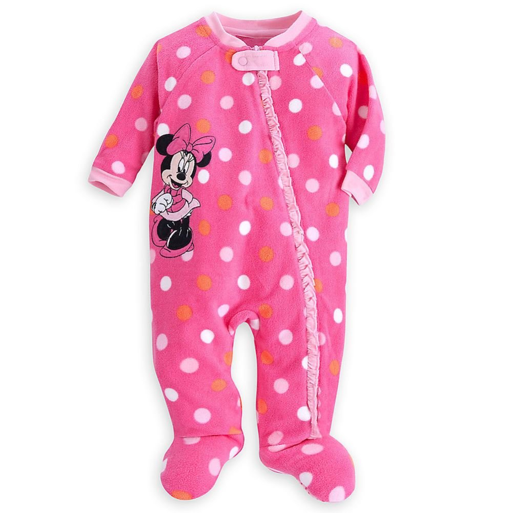 Disney Store Minnie Mouse Girl Footed Blanket Sleeper Pajama (18-24 Month)