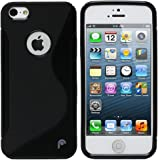 S Case Rubber Back Cover For Apple iPhone 5c (Black)
