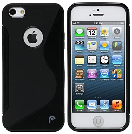 big sale 2d724 d24b1 S Case Rubber Back Cover For Apple iPhone 5c (Black)