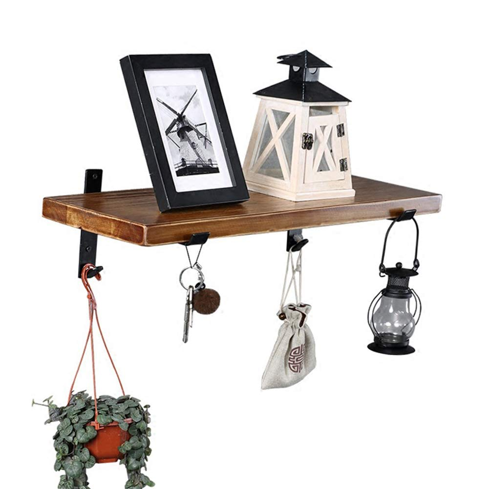 Floating Shelves Wall Modern Home Decorative Living Room Bedroom Rustic Wood Wall Storage Shelves Contain Hook