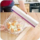 Huluwa Food Wrap Dispenser, Plastic Wrap Cutter, Foil and Cling Film Cutter Plastic Storage Holder Kitchen Accessories