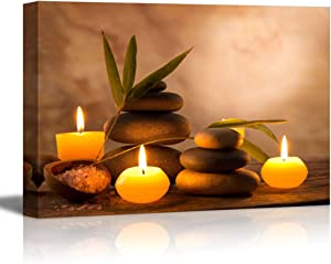 "wall26 - Aromatic Candles and Zen Stones - Canvas Art Wall Decor - 12"" x 18"""