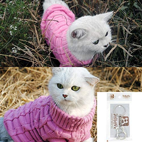 Bolbove Bro'Bear Cable Knit Turtleneck Sweater for Small Dogs & Cats Knitwear 20