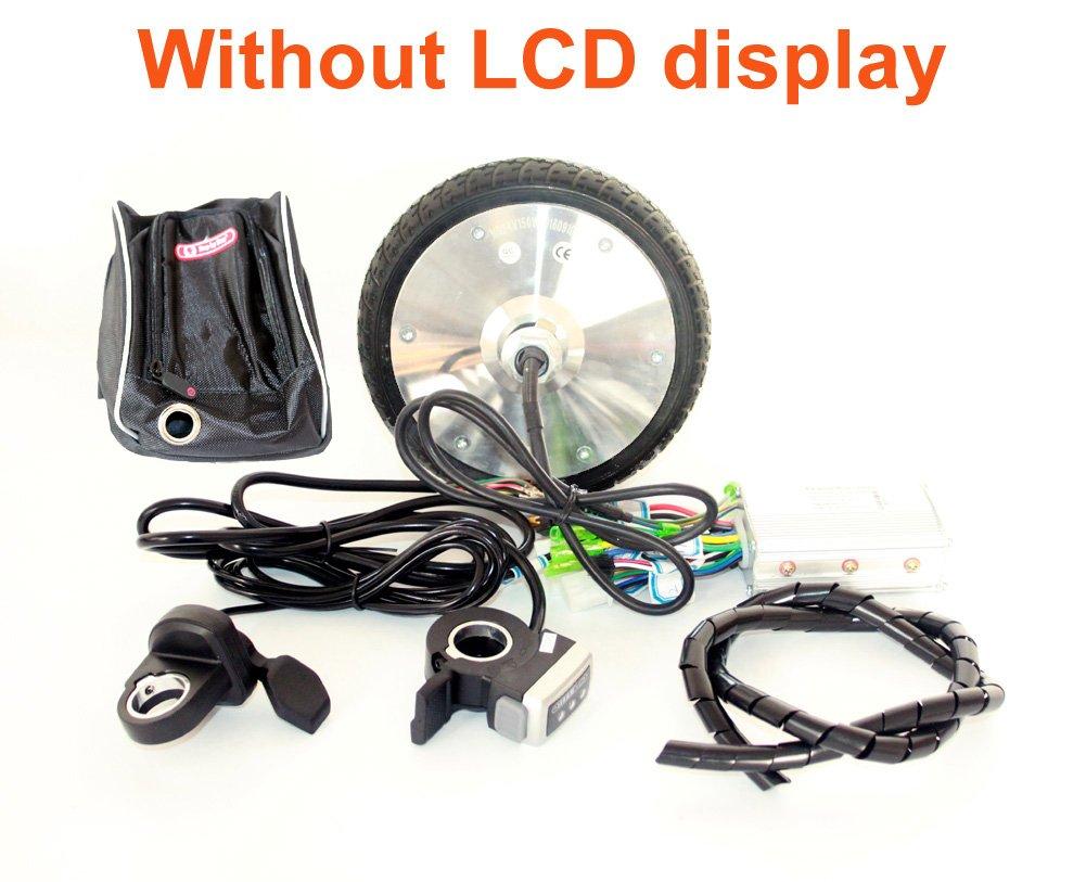 6,5 Zoll Brushless Hub Motor Kit 24V36V 150W E-Roller Motorrad Kit mit LCD-Display Daumen Drossel EBS Bremse 170MM Motorrad